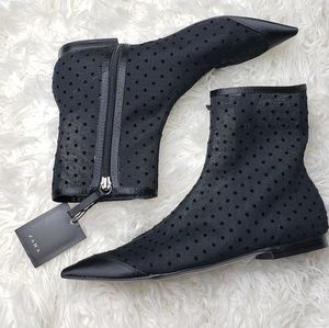 Zara Flat Ankle Boots